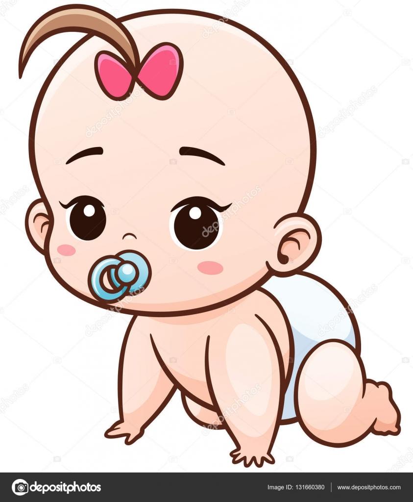 personagem de desenhos animados de beb vetor de stock
