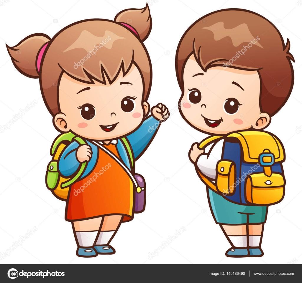 Personaje de dibujos animados niños — Vector de stock ...