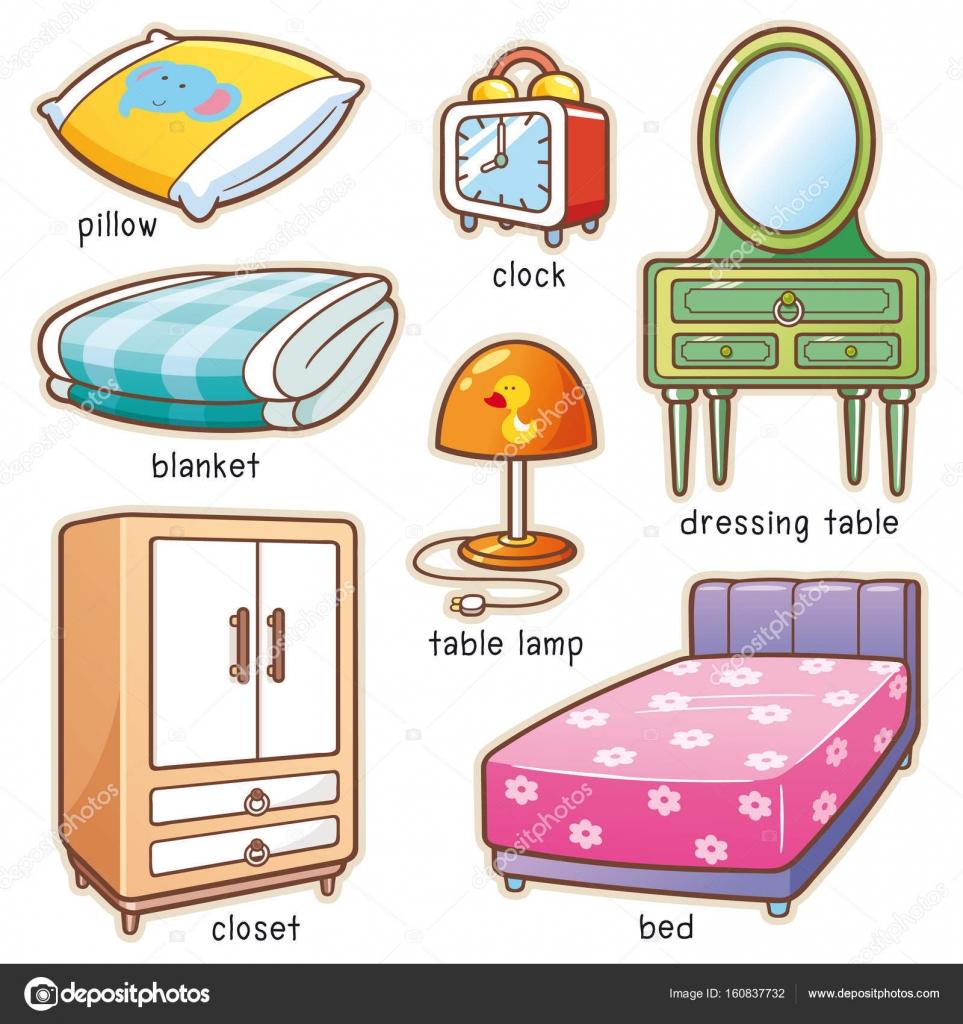 Elemento de la habitaci n de dibujos animados vector de for Dining room y sus partes