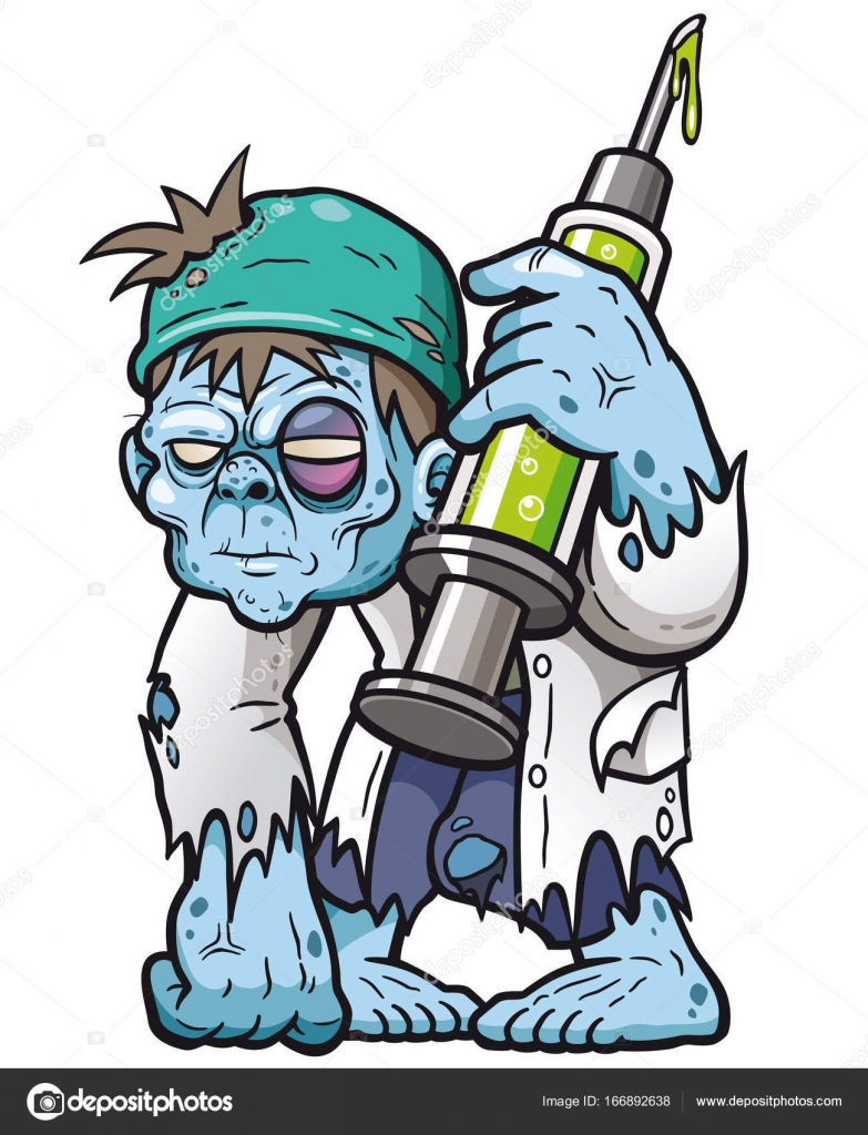 Cartoon zombie doctor ...