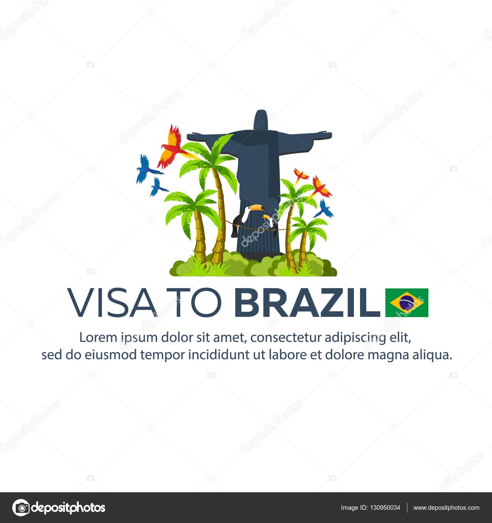 Visa to brazil travel to brazil document for travel vector flat stock illustration visa to brazil travel to brazil document for travel vector flat illustration biocorpaavc Choice Image
