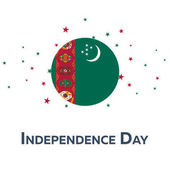 Photo Independence day of Turkmenistan. Patriotic Banner. Vector illustration.