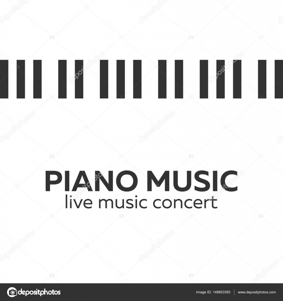 Piano Concert Poster Design Live Music Keys Vector Illustration By Leo