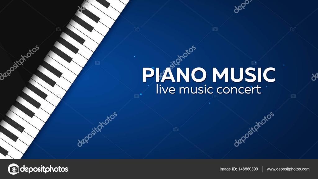 Diseño de cartel del concierto del piano. Concierto de música en ...