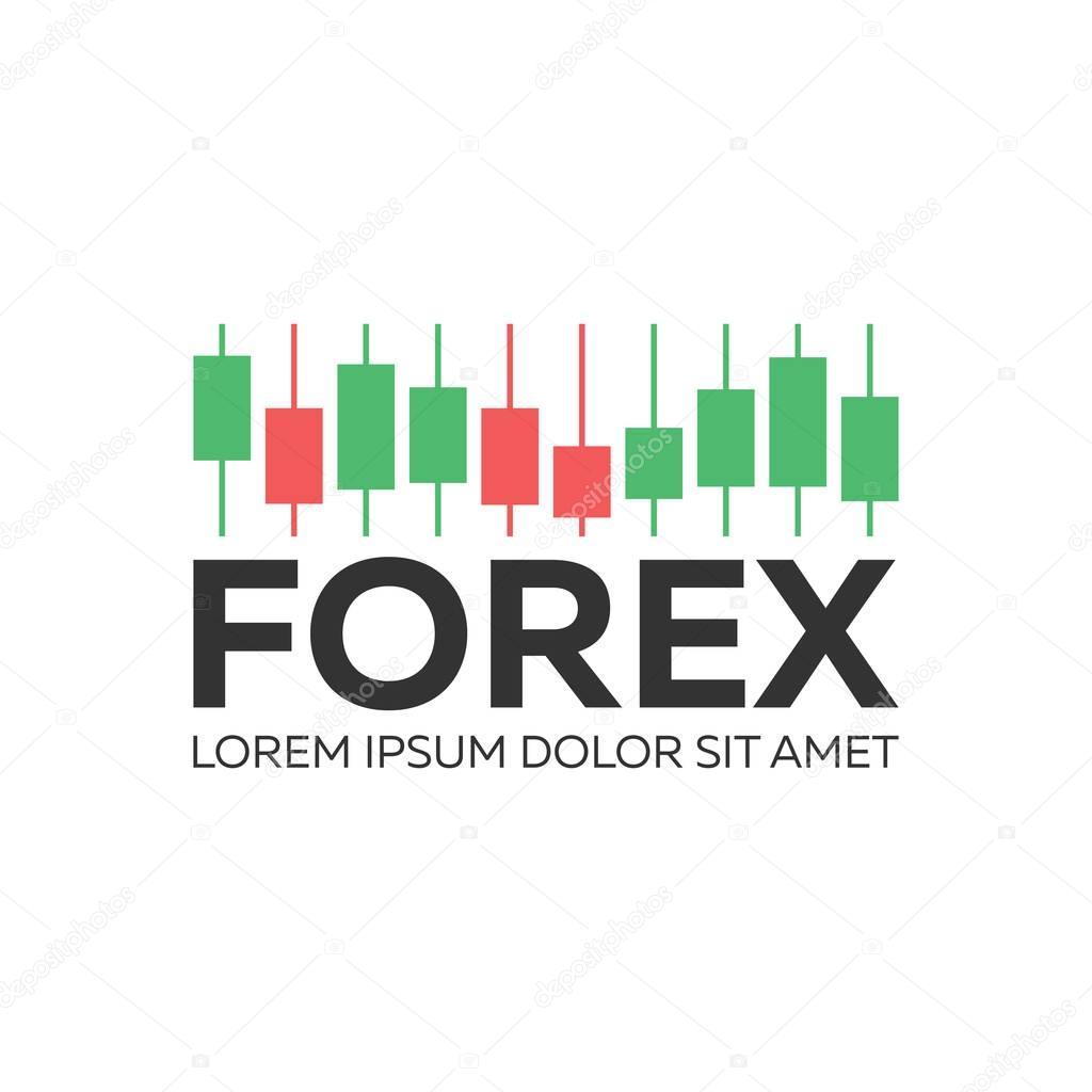 Candlestick logo trading graphique analyse de marché ...