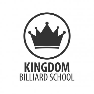 Logo for Billiard school, club or shop. Vector illustration.