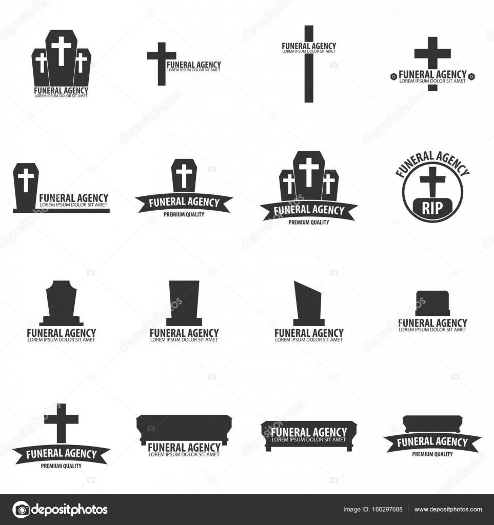 Conjunto de servicio ceremonial de la empresa de funeraria. Agencia ...