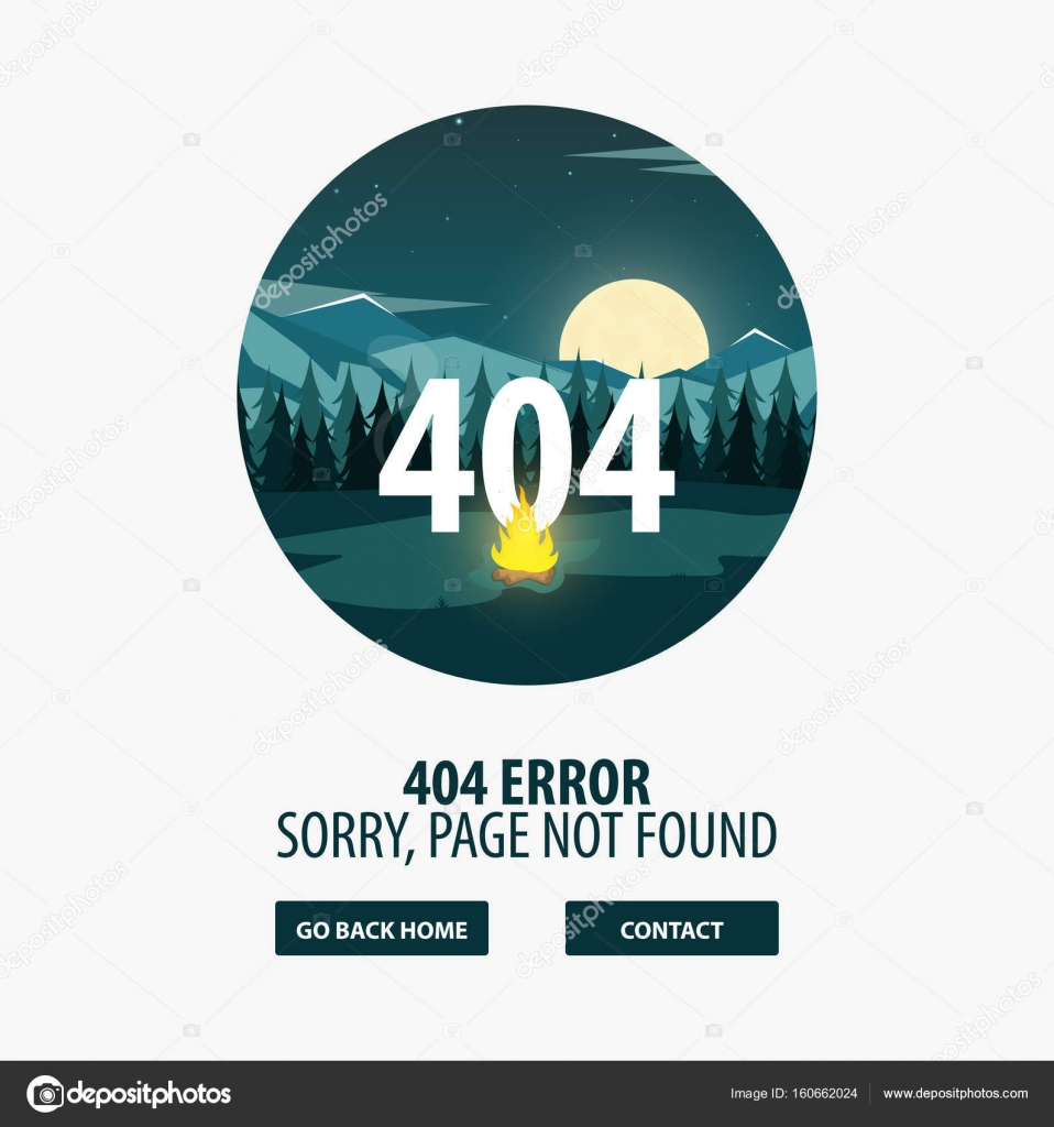 404 Error Page Not Found UI UX Template For Website Vector Illustration By Leo Design