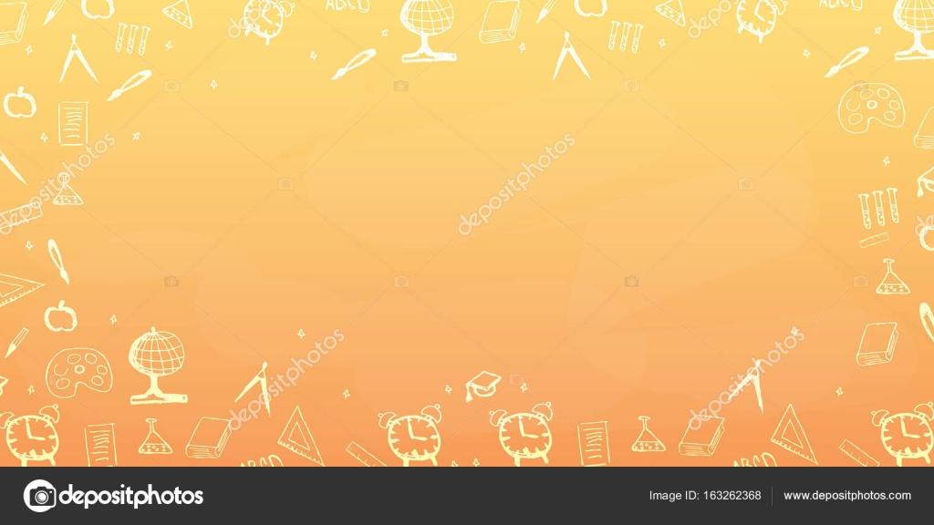 Back To School Background Education Banner Vector Illustration Stock Vector C Leo Design 163262368