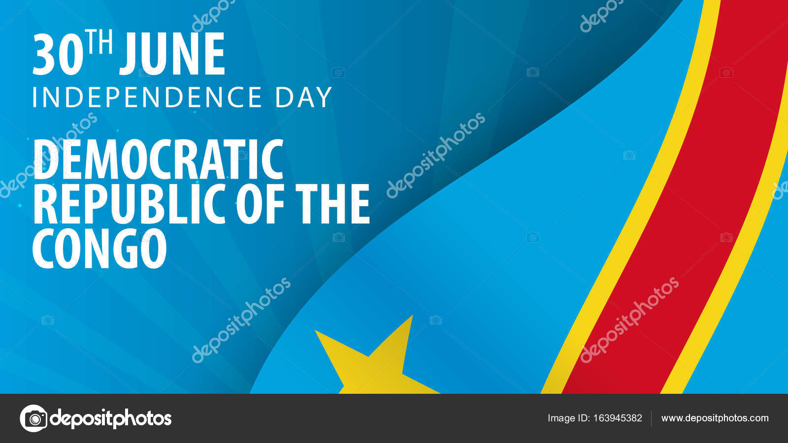 Independence Day Of Democratic Republic Of The Congo Flag And - Congo independence day