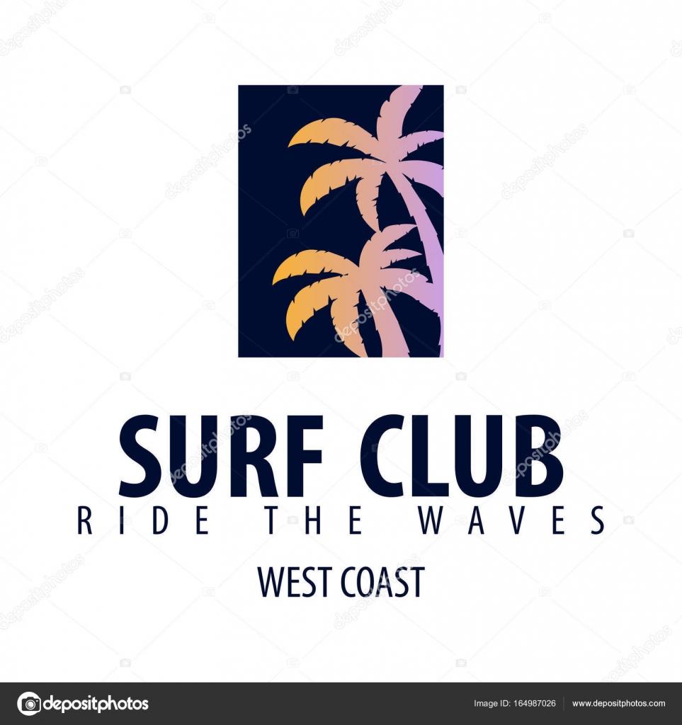 594827a6177da Logotipo de surf y emblemas para Surf Club o tienda. Ilustración de vector  - logos para tiendas de ropa deportiva — Vector de ...