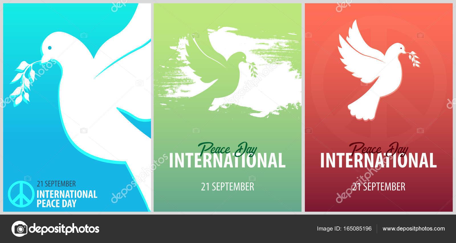 国際平和デーのポスター。9 月 2...