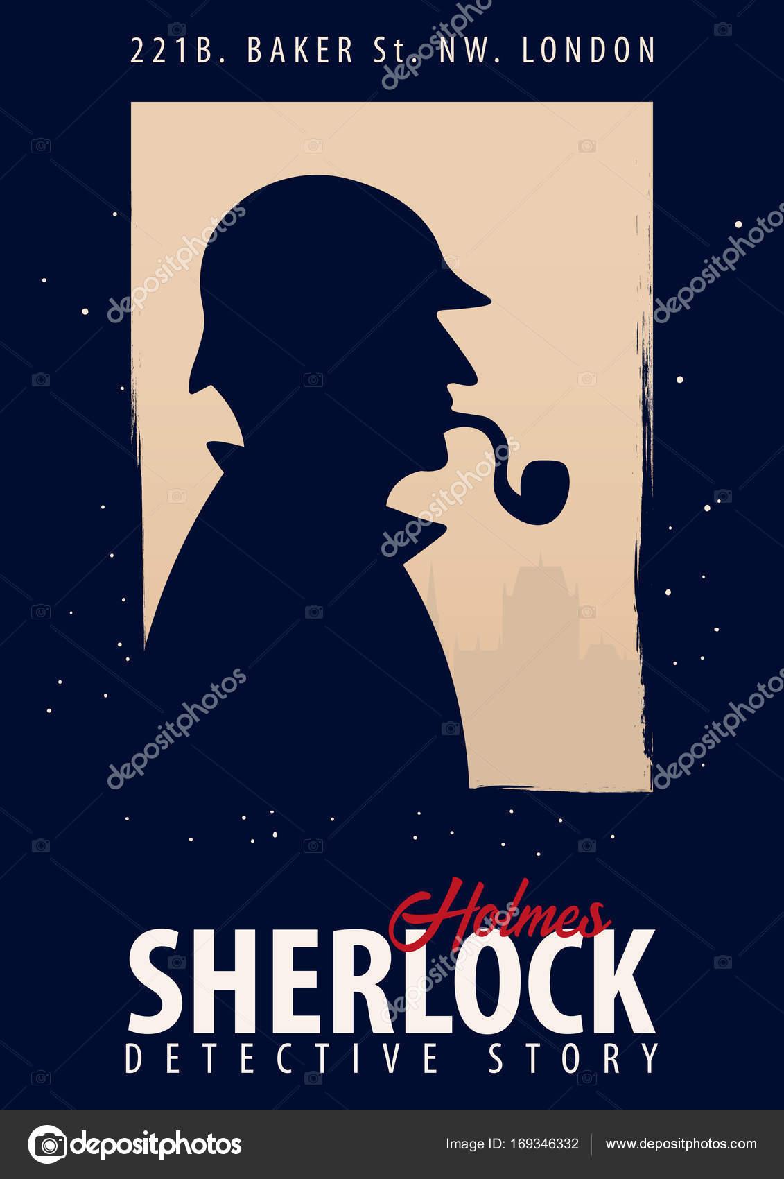 シャーロック ホームズのポスター探偵の図シャーロック