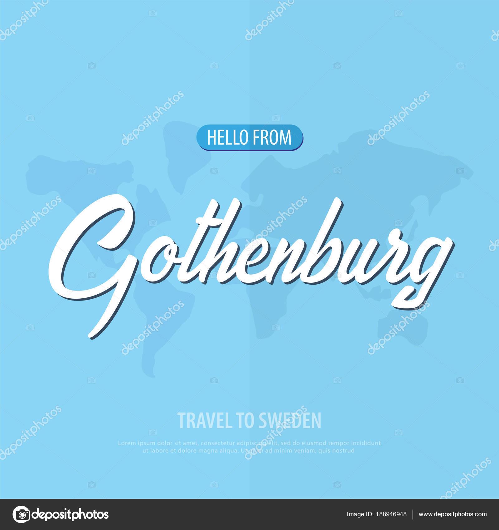 gratulationskort göteborg Hej från Göteborg. Resa till Sverige. Turistiska gratulationskort  gratulationskort göteborg