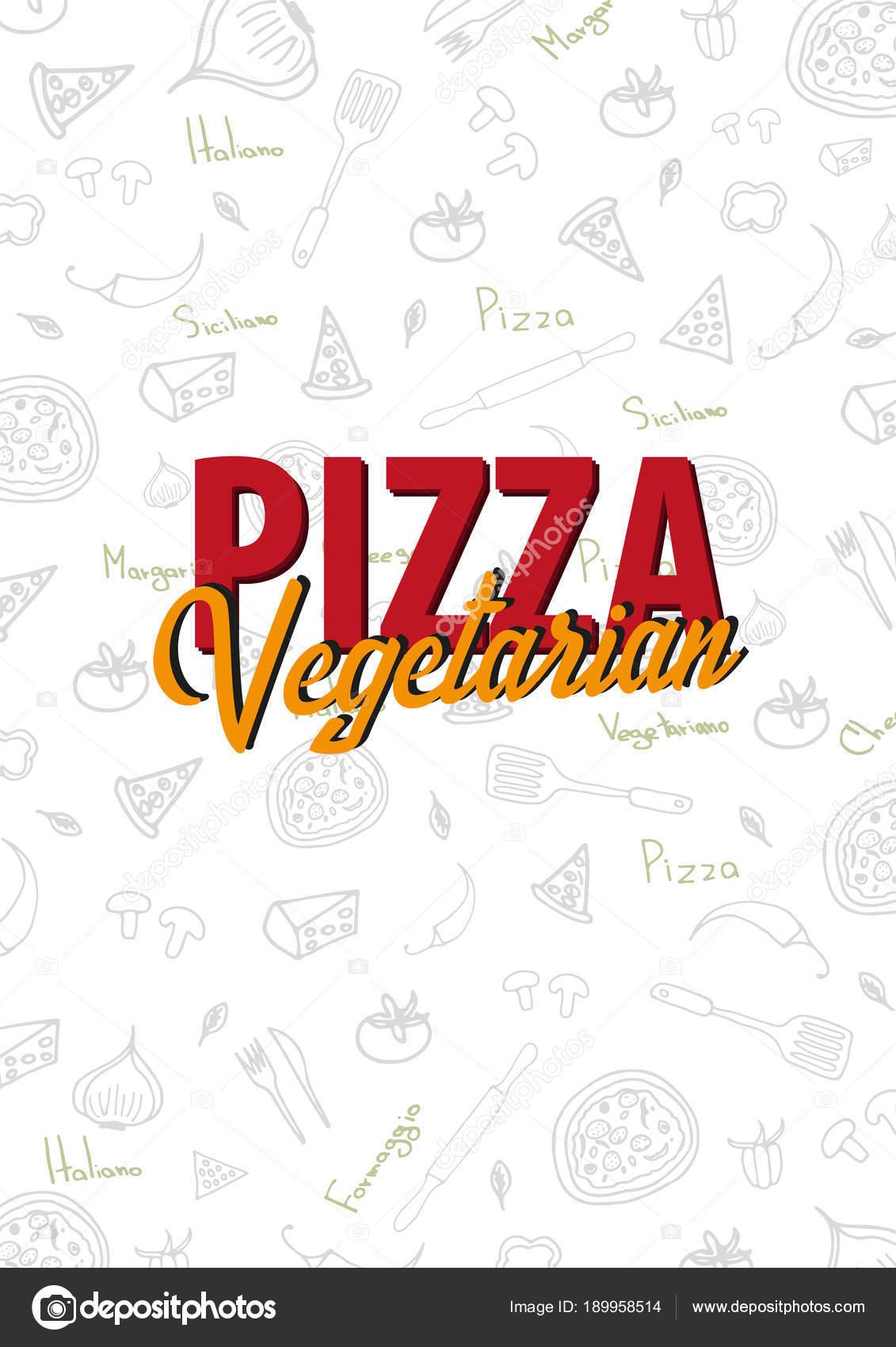 Menú de pizza alimentos para restaurante y cafetería. Plantilla de ...