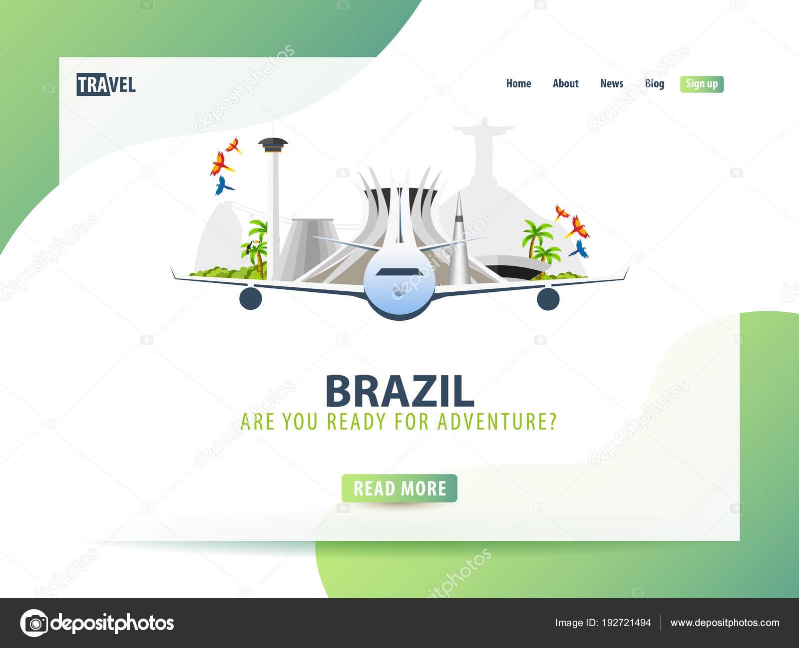 Brasil. Plantilla web o banner para sitio web o página de inicio de ...