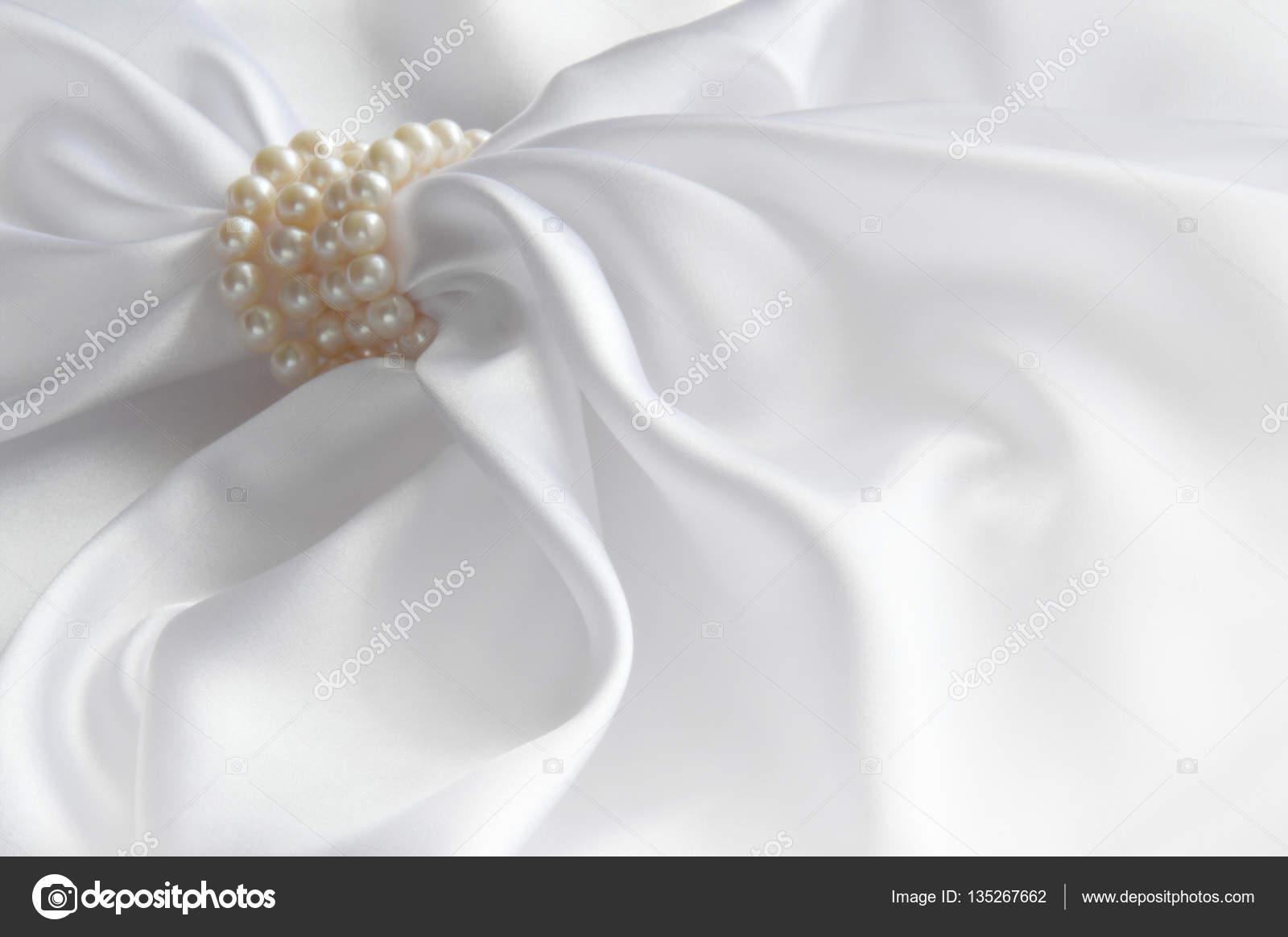 White Satin Drapes