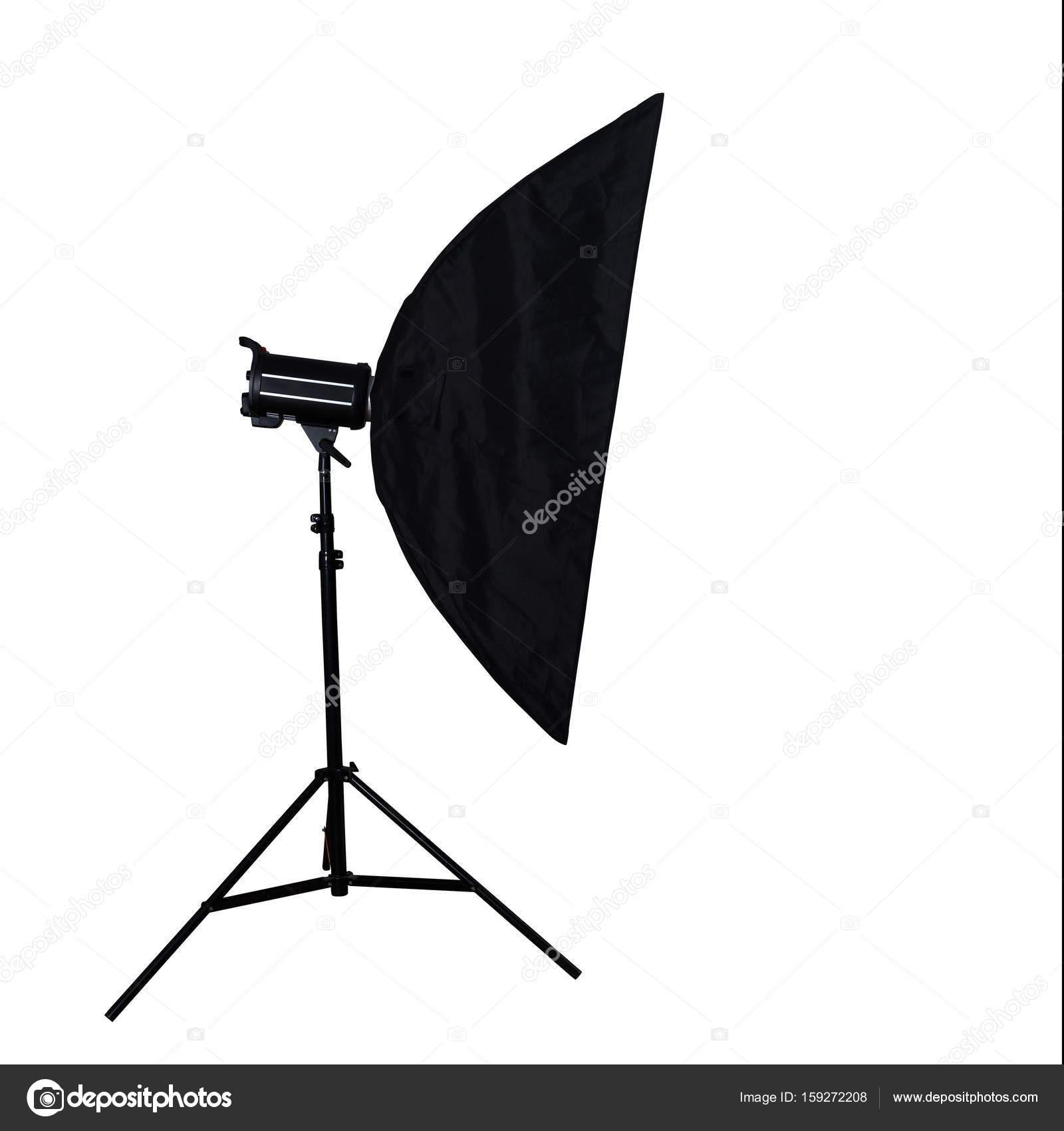 studio verlichting op witte achtergrond met knippen deel stockfoto