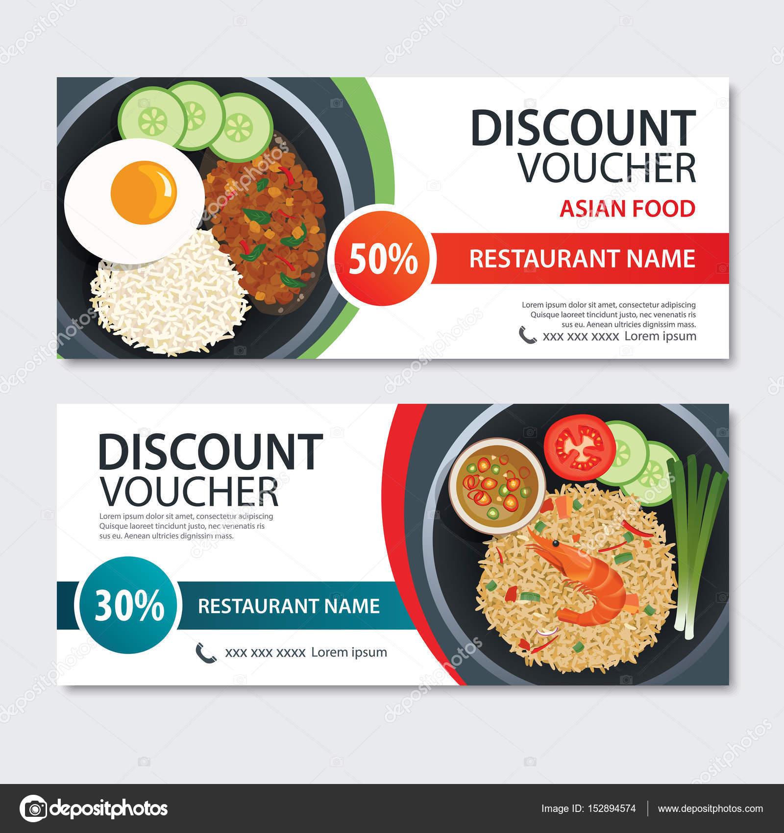 Rabatt Gutschein-asiatische Küche-Template-Design. Thailand-set ...