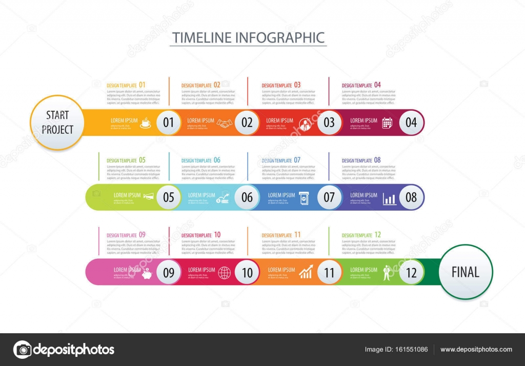 Infographic Timeline 1 Year Template Business Concept CV Templates Download Free CV Templates [optimizareseo.online]