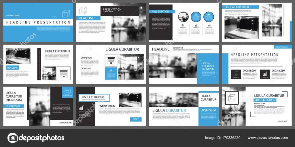Blaue Vorlagen und Infografiken Elemente Präsentationshintergrund ...
