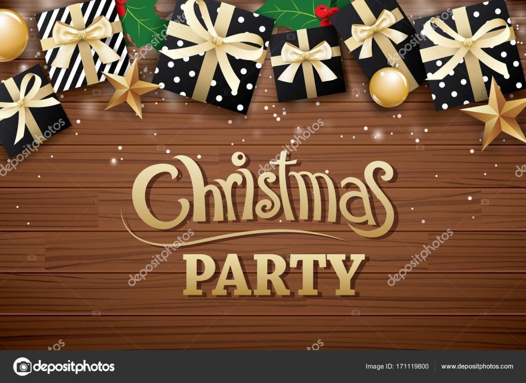 Christmas Party Poster.Christmas Party Poster Background Design Template Stock