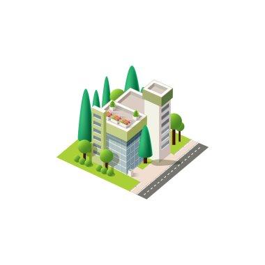 Vector isometrics hospital