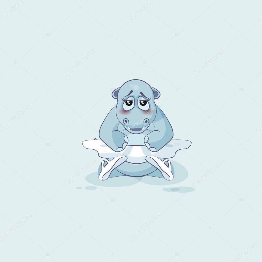 bailarina de desenho vetorial emoji ilustração personagem hipopótamo