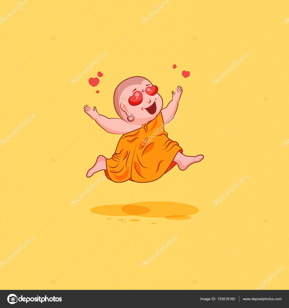 Sticker emoji emoticon emotion vector isolated illustration sticker emoji emoticon emotion vector isolated illustration unhappy character cartoon buddha in love stock vector biocorpaavc Image collections