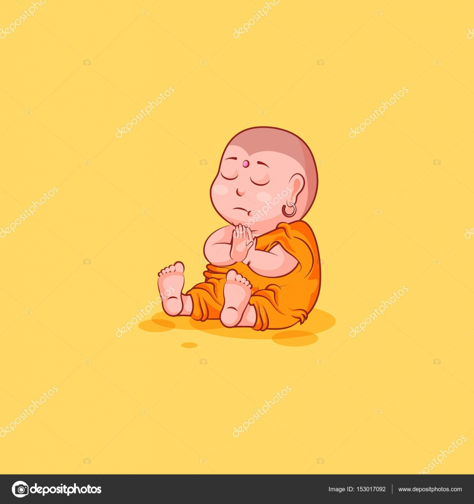 Sticker emoji emoticon emotion vector isolated illustration sticker emoji emoticon emotion vector isolated illustration happy character cartoon buddha sit meditate contemplation prayer sticker buddhist monk kashaya biocorpaavc Image collections