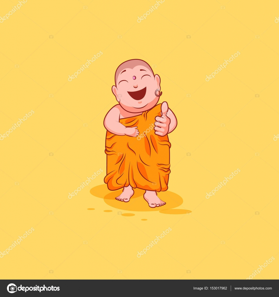 Sticker emoji emoticon emotion vector isolated illustration sticker emoji emoticon emotion vector isolated illustration unhappy character cartoon buddha approves with thumb up biocorpaavc Image collections