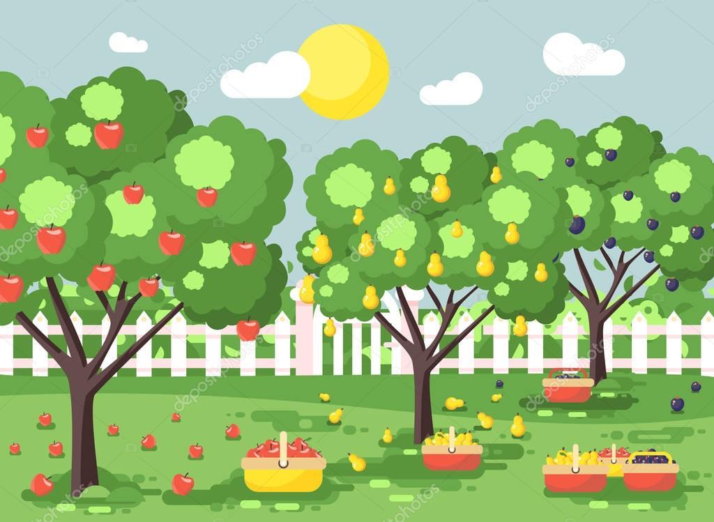 картинка фруктового сада без фруктов возможных последствиях