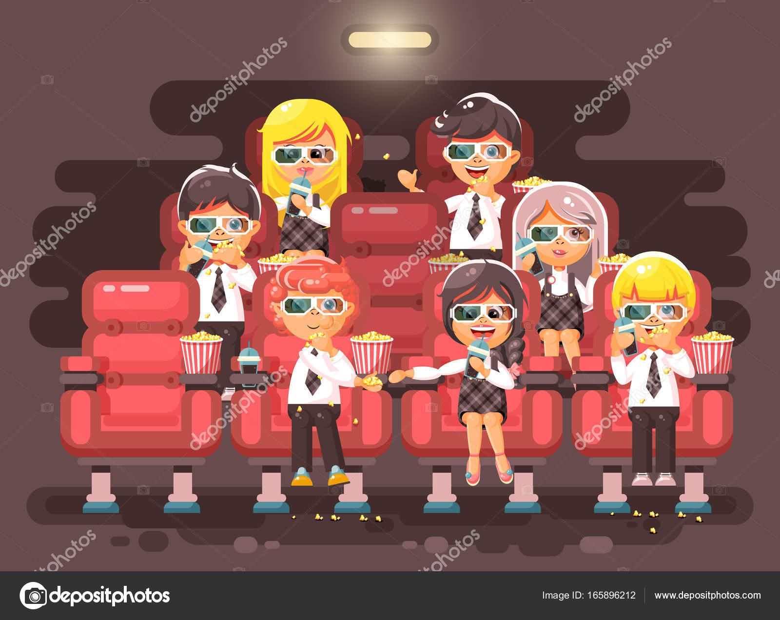 Personaggi dei cartoni animati di illustrazione vettoriale bambini