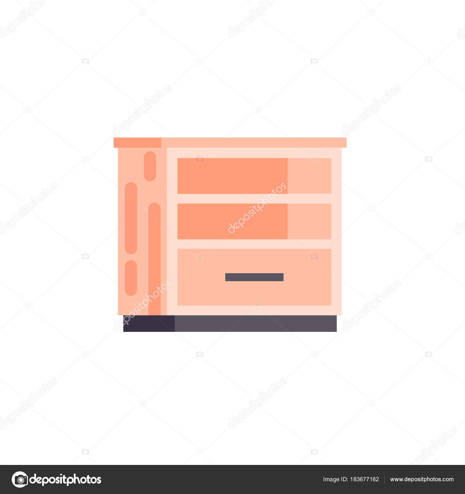 Möbel Leer vektor isolierte abbildung symbol möbel leer orange nachttisch