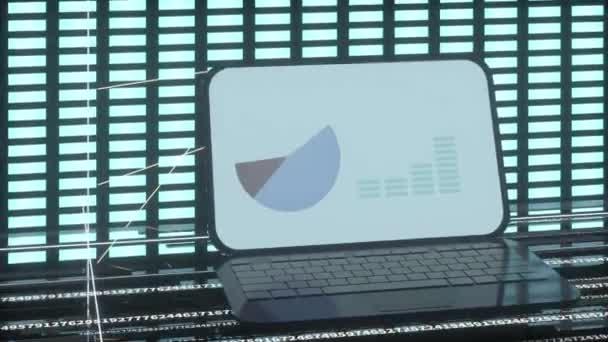 Fluoreszierender Hintergrund, Datengeometrie, 3D-Rendering.