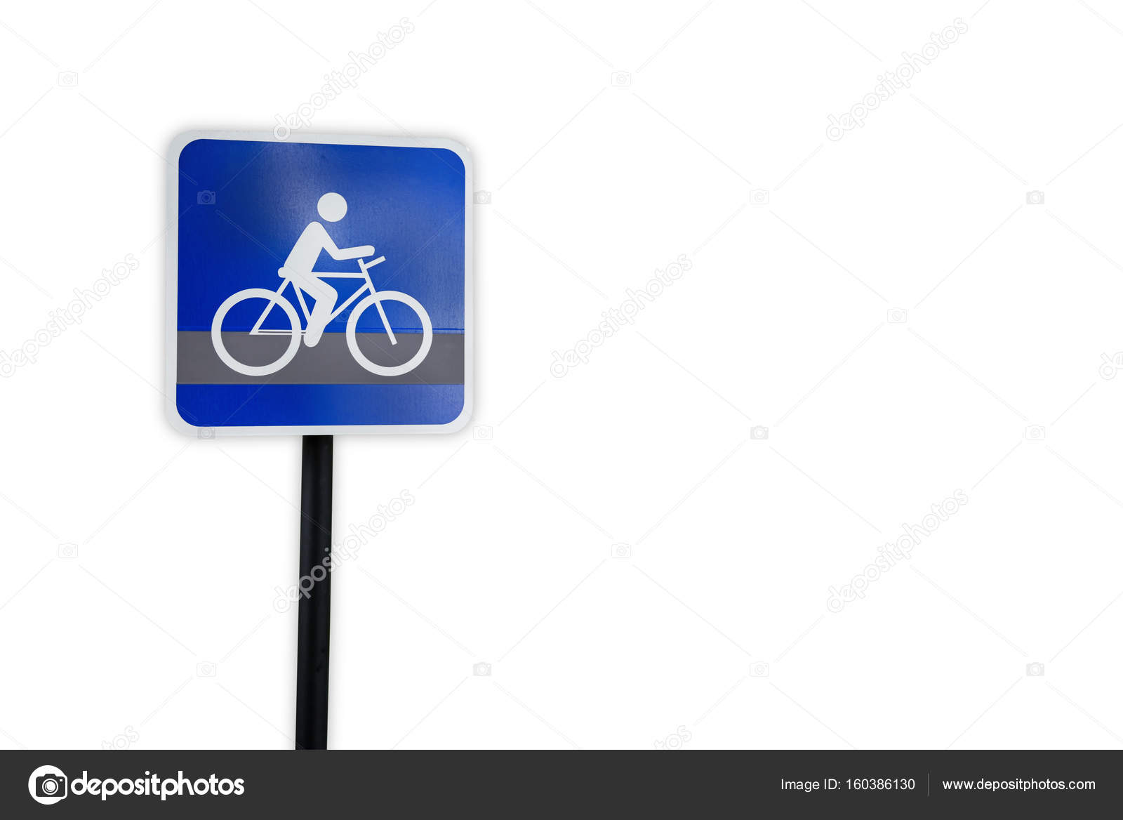 Bike route traffic sign template isolated on white background ...