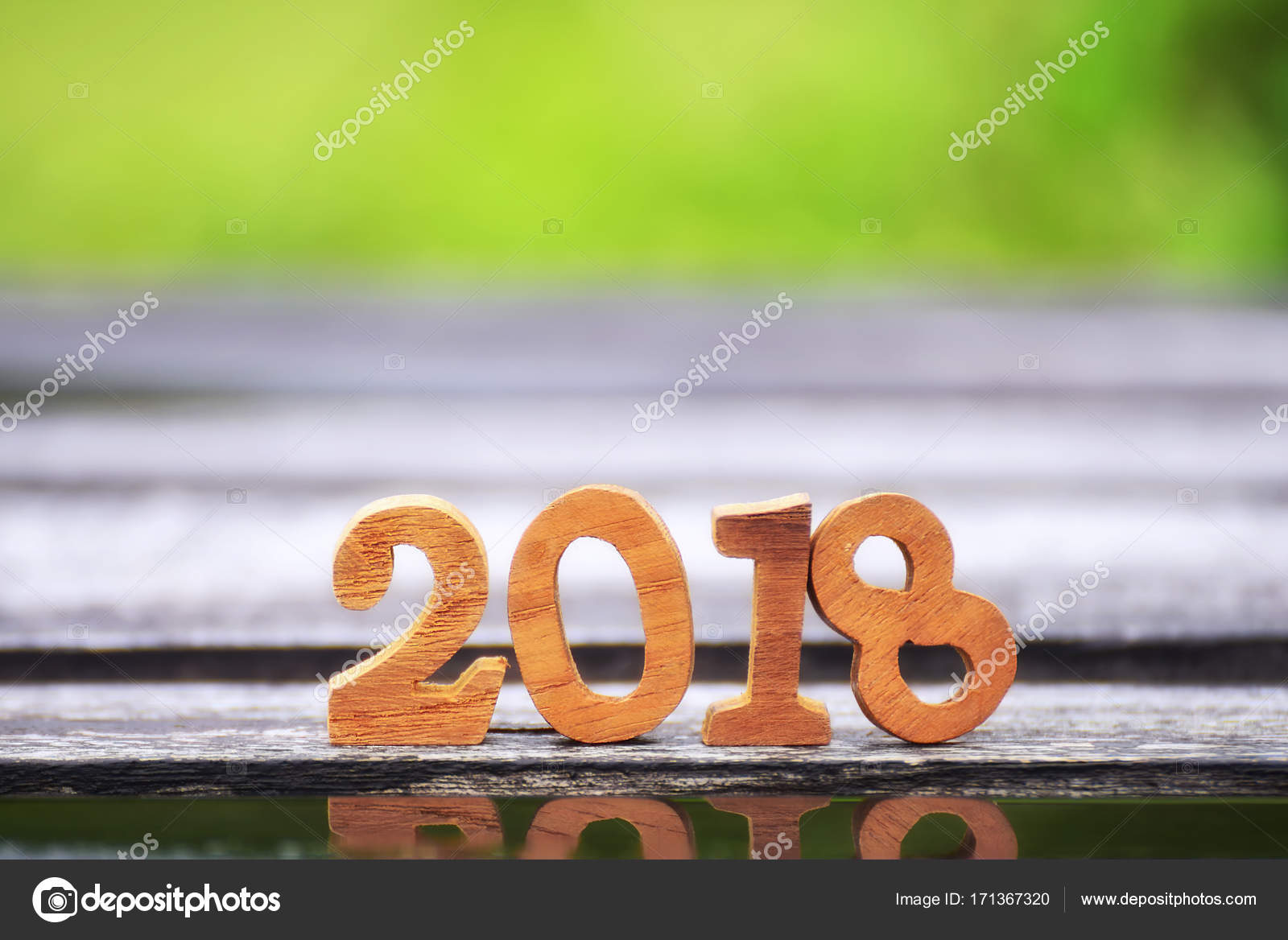 happy new year 2018 nature concept stock photo