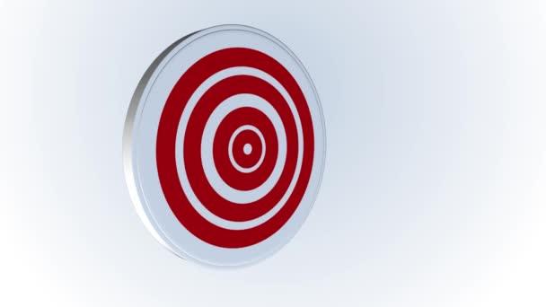 Nyíl üti a cél középpontjában - siker üzleti koncepció