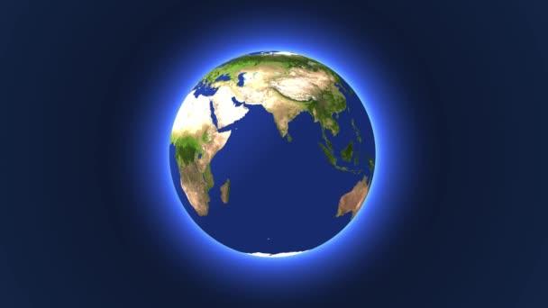 Earths rotation.3d animation