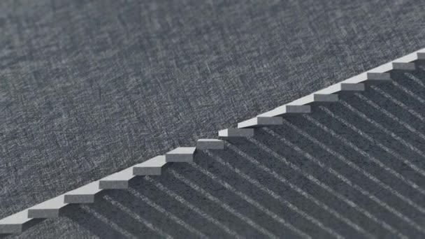 Schody a stín s cementovou stěnou