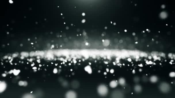 Částice prach abstraktní světlo pohyb tituly film bílá pozadí smyčka