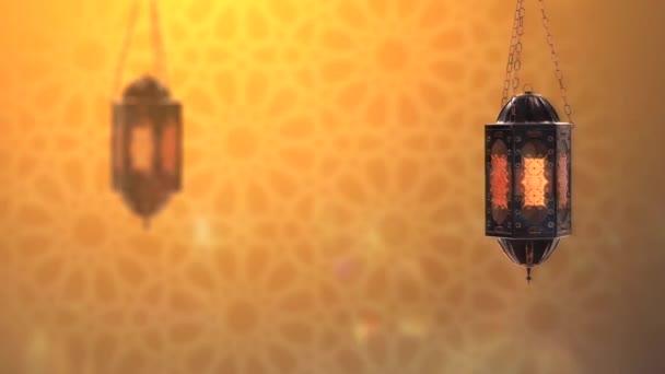 Arabische Goldene Ramadan-Laterne