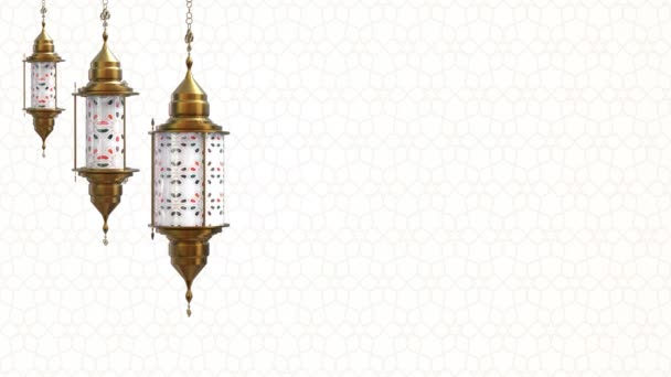 Ramadan Kareem Hintergrundschleife mit animierter islamischer Dekoration, 3D-Animation