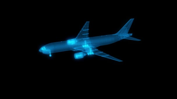 3D pohybová grafika, Letadla v hologramu Wireframe