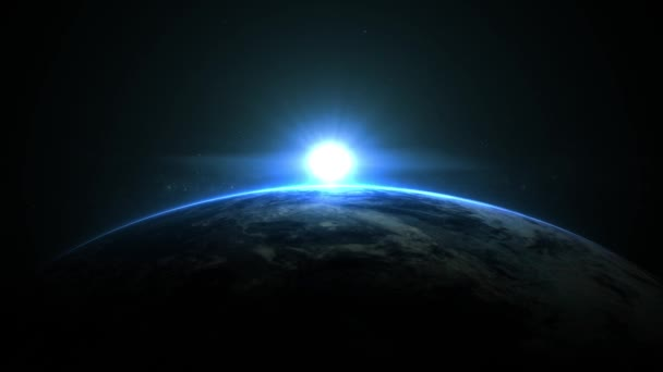 3D animation, Earth From Space, Sunrise In Space
