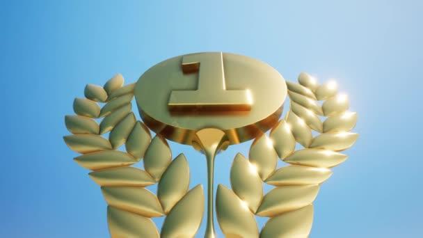 3D háttér, Első hely Gold Number One with Sky