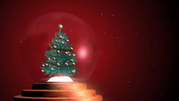 3D-Hintergrund, Weihnachten Schneekugel