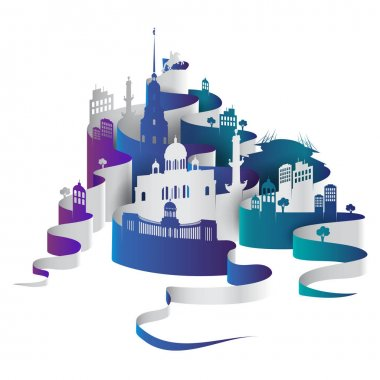 Saint-Petersburg vector cityscape