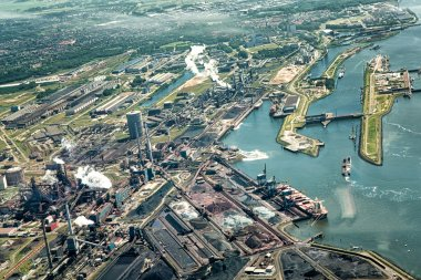 Tata Steel factory as seen from the air