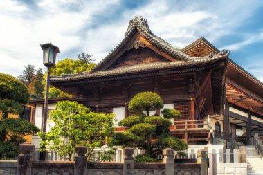 Japan, Narita, temple roof detail
